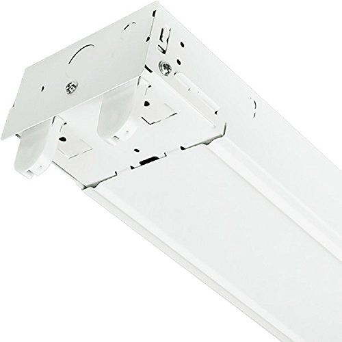 8 Ft 2 Lamp Fluorescent Strip Light White No Ssf2964wp 8ft: 4 Ft. LED Ready Suspended Strip Fixture 2 Lamp White