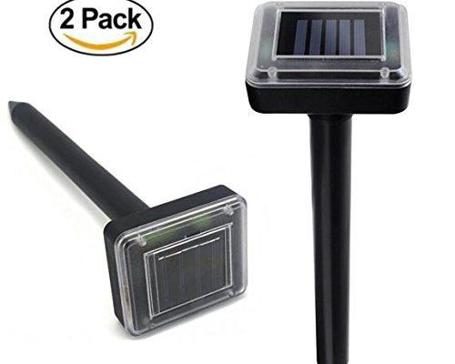 2 Piece Outdoor Ultrasonic Pest Repeller Solar Repellent